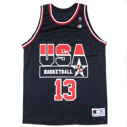 c5c5fb32b7e8 Vintage Shaq Shaquille Oneal USA Champion Jersey NWOT 90s NBA basketball –  For All To Envy