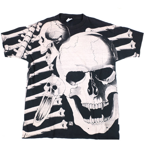 Vintage Skulls All Over Print T-Shirt