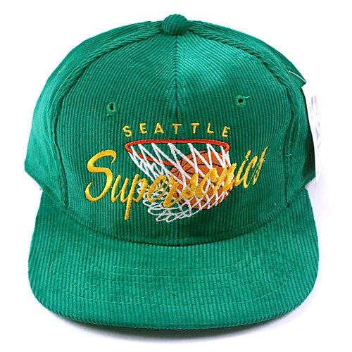 Vintage Seattle Supersonics Snapback Hat NWT