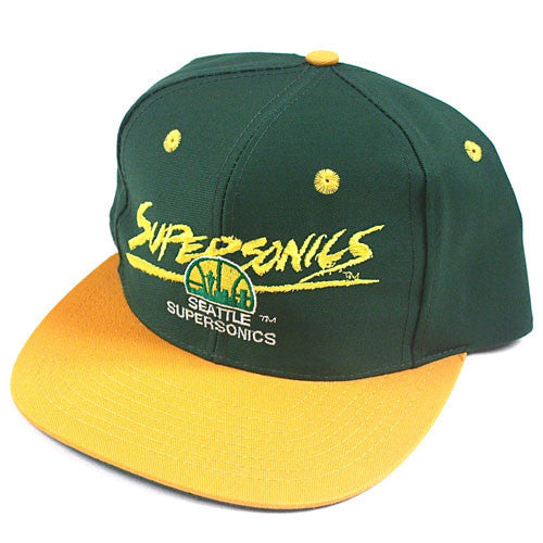 Vintage Seattle Supersonics snapback hat NWOT