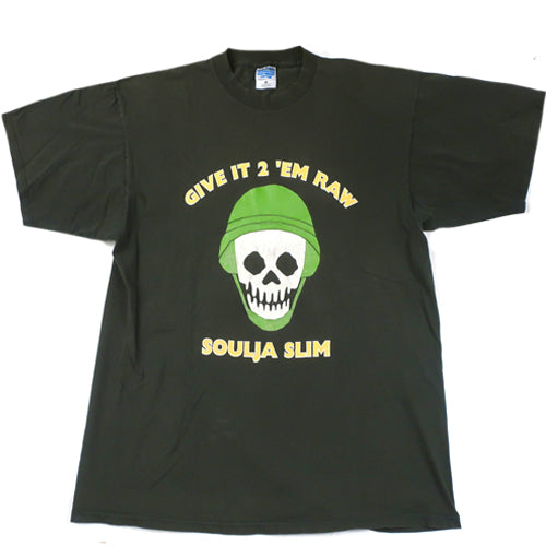 "Vintage Soulja Slim ""Give It 2 'Em Raw"" T-shirt"