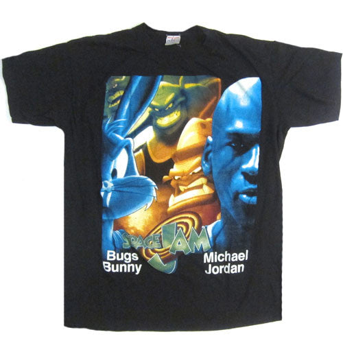 Vintage space jam michael jordan bugs bunny t shirt 1996 for I like insects shirt