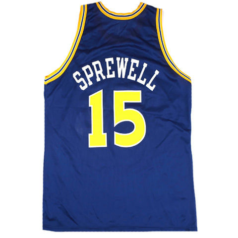 big sale 4db20 36e64 Vintage Latrell Sprewell Golden State Warriors Champion ...