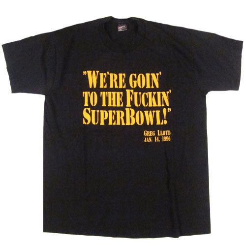 0b90e61db Vintage Pittsburgh Steelers Greg Lloyd Super Bowl T-Shirt 1996 Super Bowl  NFL Football Terrible Towel – For All To Envy