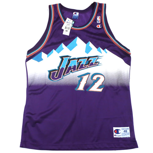 06b917f158c9 Vintage John Stockton Utah Jazz Champion Jersey 90 s New With Tag NWT  Basketball – For All To Envy