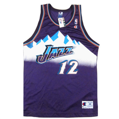 Vintage John Stockton Utah Jazz Champion Jersey 90's New With Tag NWT Basketball - For All To Envy