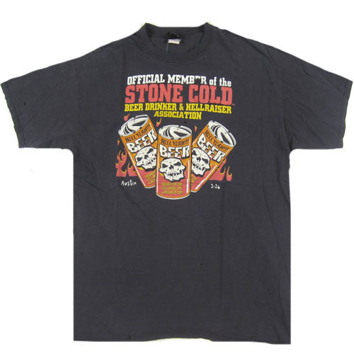 Vintage Stone Cold Official Member Beer Drinker T-Shirt