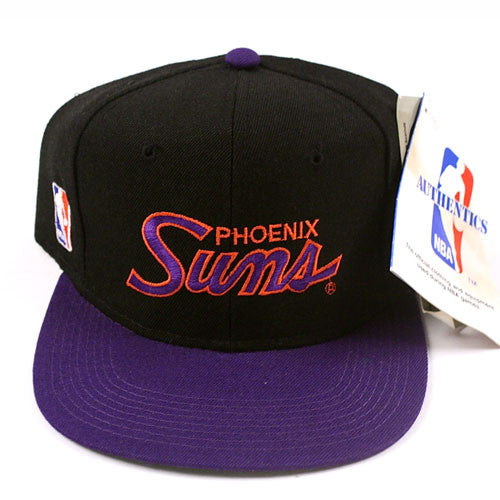 2f3c40fa138 Vintage Snapback Snap Back Hat Phoenix Suns Sports Specialties Script 90 s  Wool New With Tags NWT NBA Basketball Charles Barkley – For All To Envy