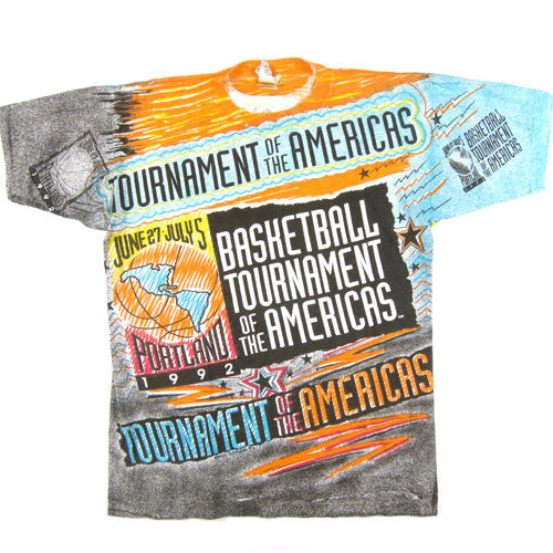 Vintage 1992 Tournament of the Americas Basketball T-shirt