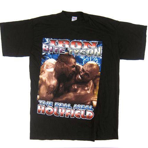 Vintage Mike Tyson Evander Holyfield Just Bite It T-Shirt