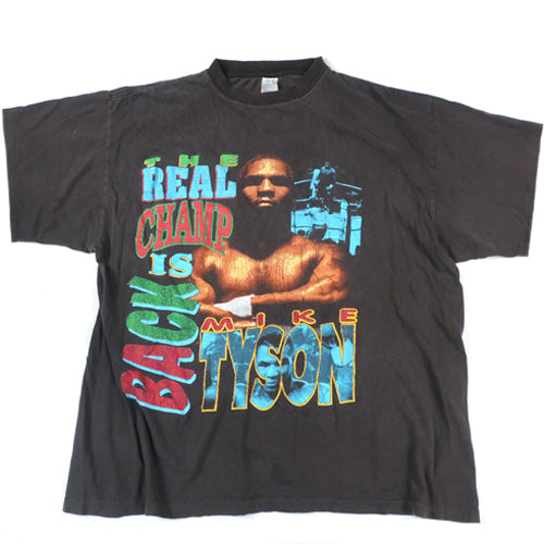 "Vintage Mike Tyson ""The Real Champ is Back"" T-Shirt"