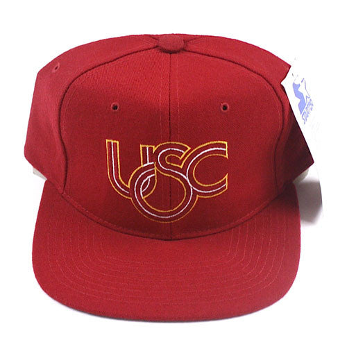 Vintage Snapback Snap Back Hat University of Southern California Starter  Logo 90 s Wool New With Tags NWT NCAA College Football – For All To Envy 9f88f6b285bb