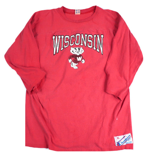 Vintage Wisconsin Badgers 3/4 Sleeve T-shirt