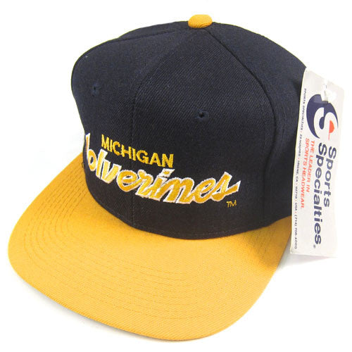 Vintage Michigan Wolverines Sports Specialties Snapback Hat NWT