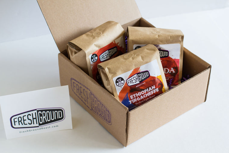 FreshGround Roasting Three African Coffees Sampler - 1