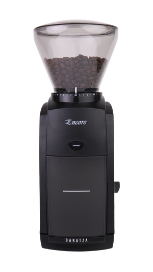 Baratza Encore coffee grinder in black - front view