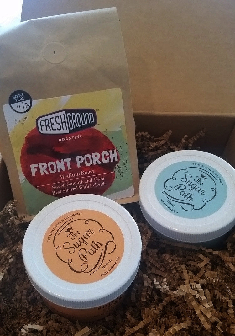 FreshGround Roasting Take-a-Cake Cake Jar and Coffee Gift Box - 1