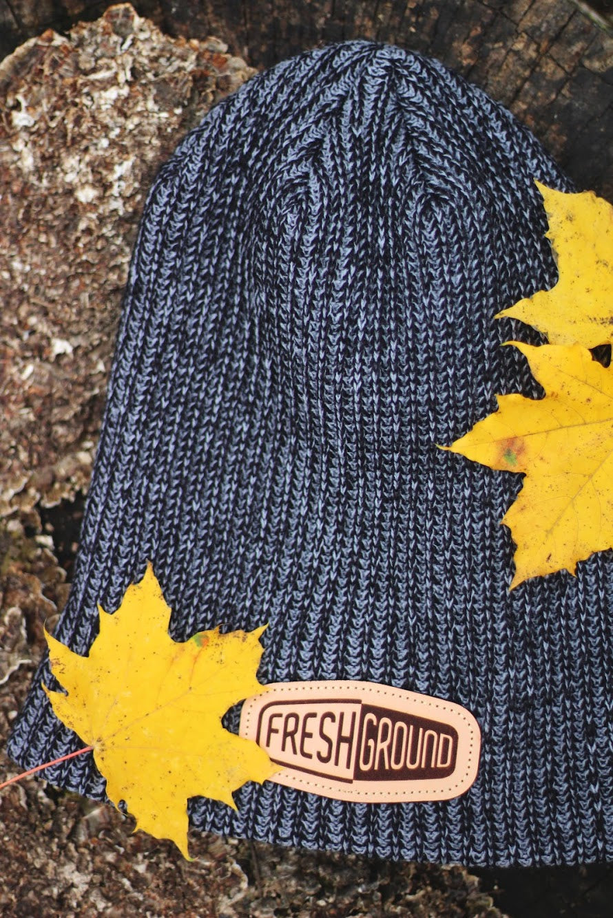 FreshGround Slouch Beanie with Clutch Leather Logo