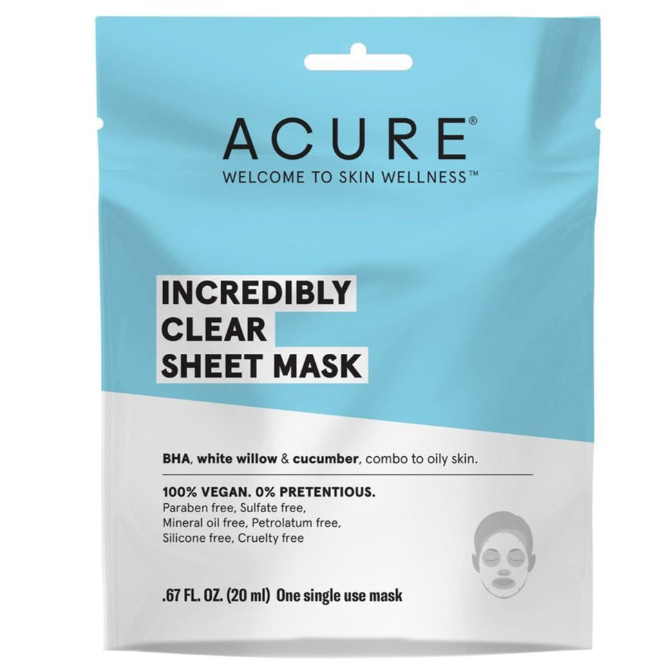 Incredibly Clear Sheet Mask - Salicylic Acid, Cucumber & White willow