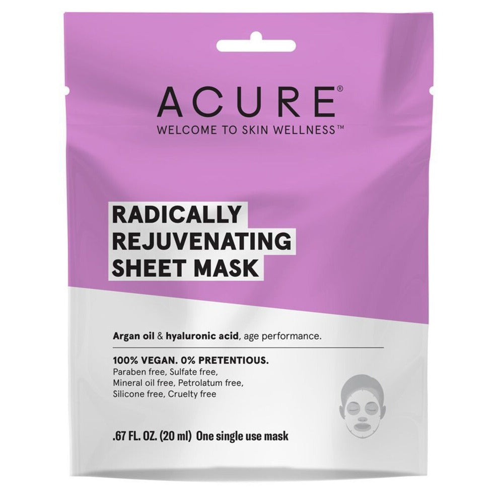 Radically Rejuvenating Sheet Mask - Hyaluronic Acid & Argan Oil