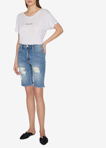 Carlin Distressed Denim Shorts