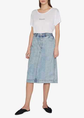 Folding Denim Skirt