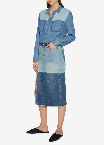 Two-tone Indigo Skirt