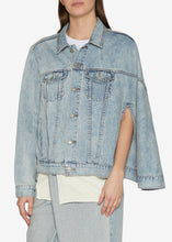 Load image into Gallery viewer, Light Indigo Denim Cape Jacket