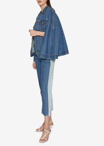 Dark Indigo Denim Cape Jacket