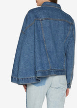 Load image into Gallery viewer, Dark Indigo Denim Cape Jacket