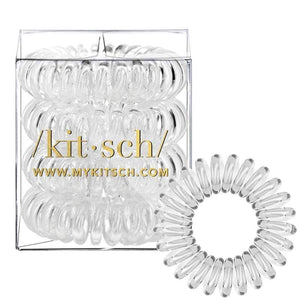 4 PACK HAIR COILS - CLEAR
