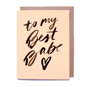 Card- To My Best Babe