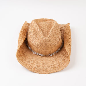 Hat-Bronco beaded cowgirl