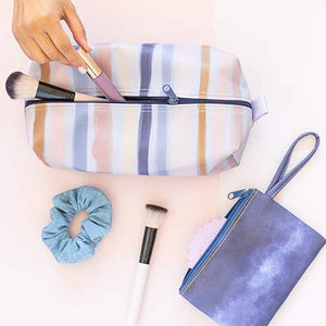 Cosmetic pouch-stripe