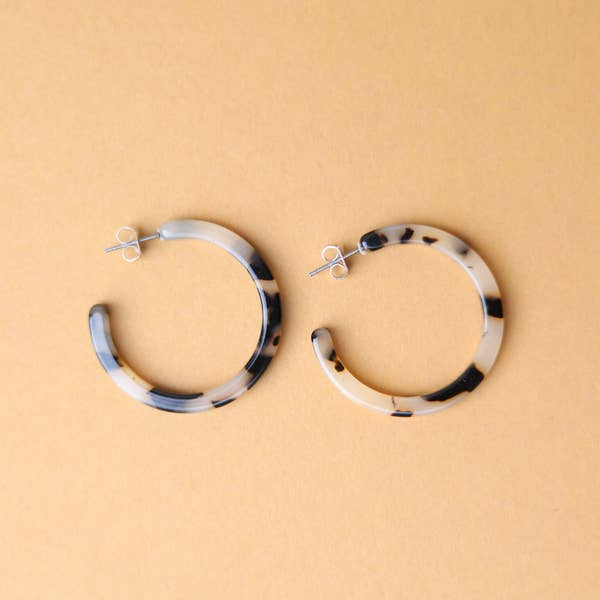 Earrings- tortoise ivory