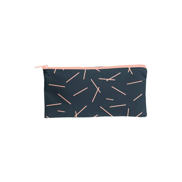 Load image into Gallery viewer, Canvas Pouch -pixie sticks midnight