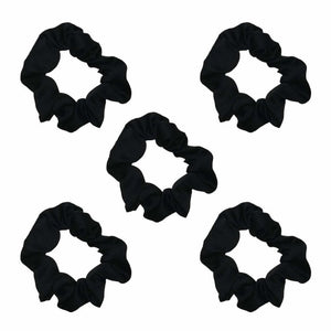 Load image into Gallery viewer, SATIN SCRUNCHIES 5PC (BLACK)