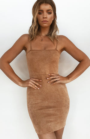 Kiki Mini Dress Tan