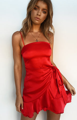 Take Me To Town Dress Red