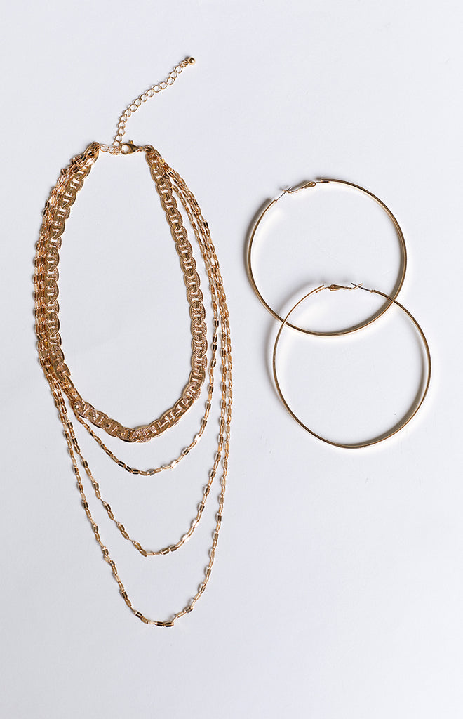 8 Other Reasons Katie Necklace & Earring Set Gold