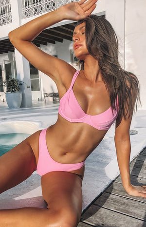 9.0 Swim Elba Cheeky Bikini Bottoms Baby Pink