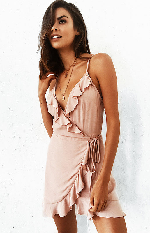 Rodeo Drive Wrap Dress Blush