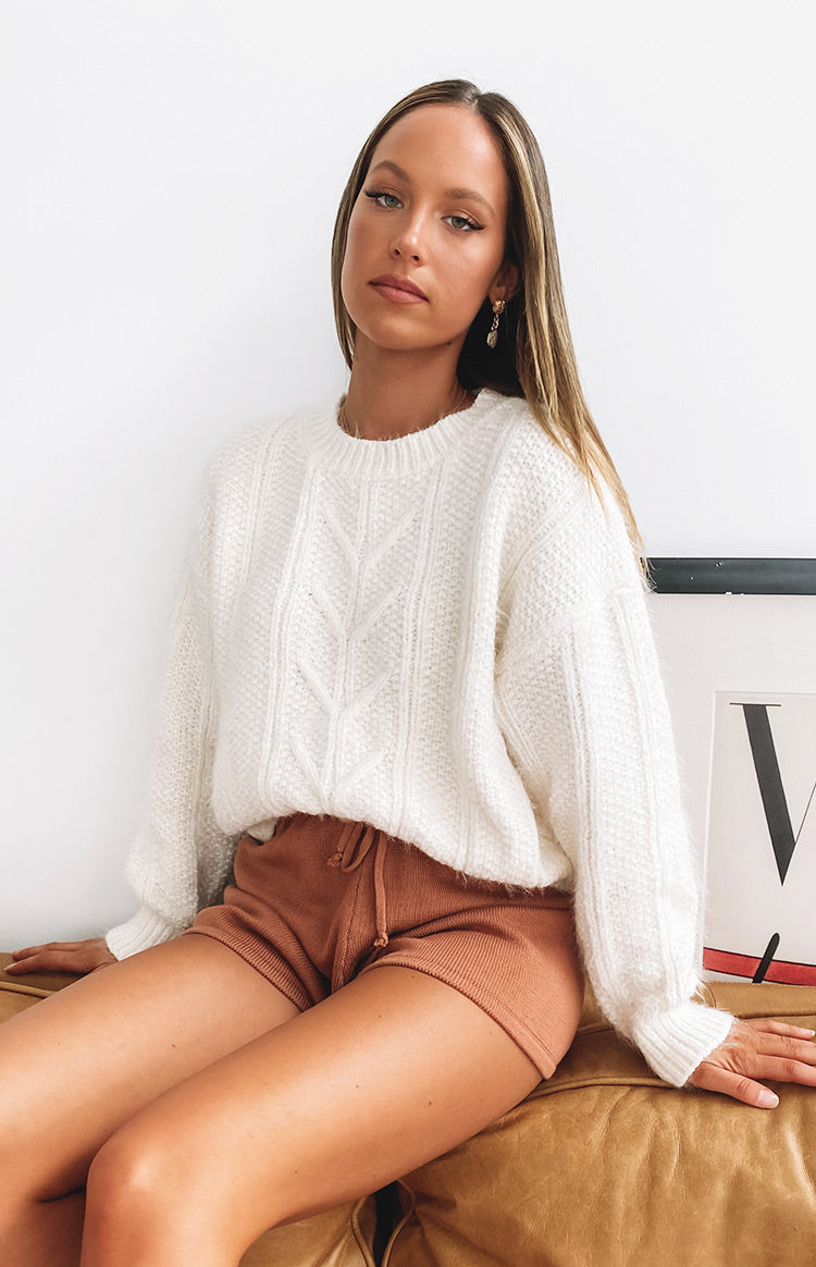 Aamina Cable Knit Jumper Cream