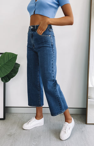 Abrand A Street Aline Crop Jeans Electra
