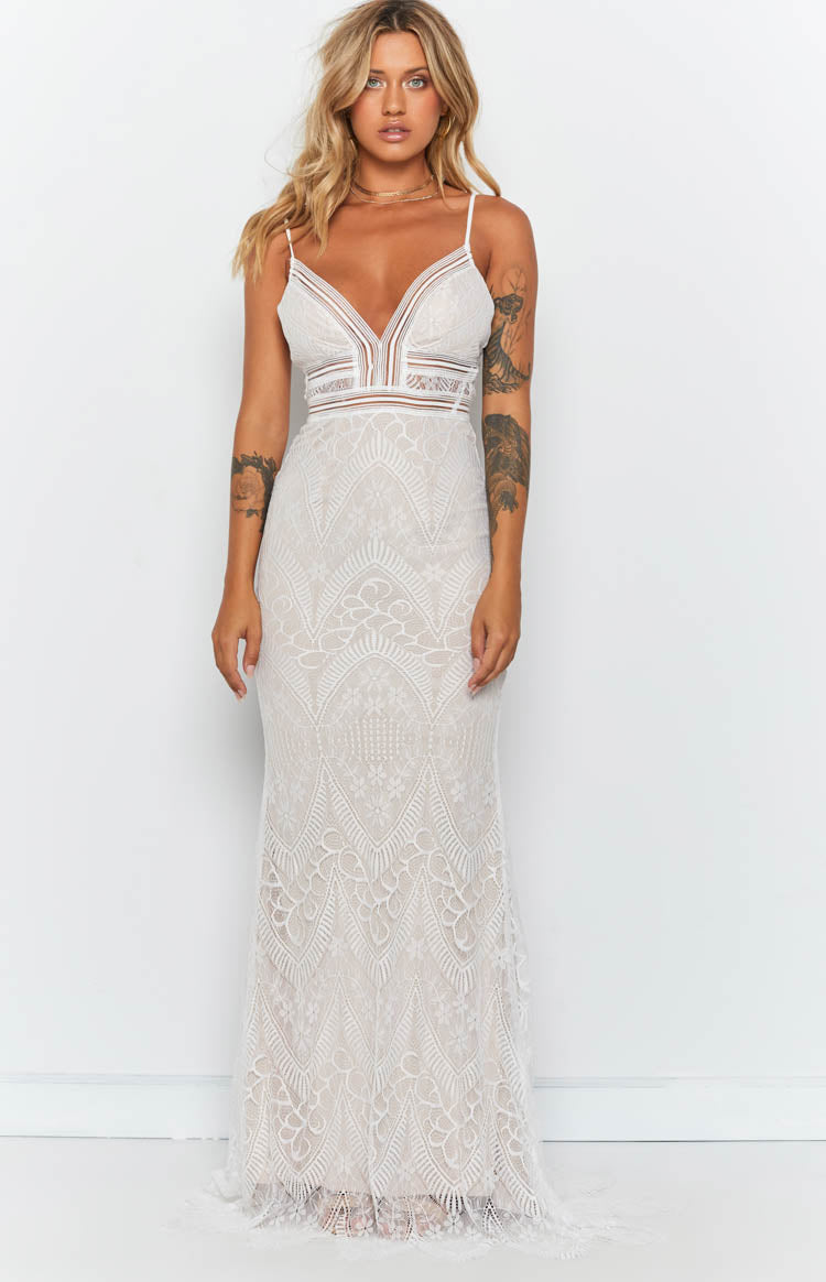 Adella Maxi Dress Nude