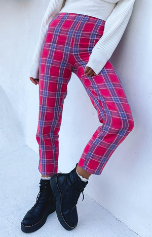 Alejandro Pants Pink Plaid
