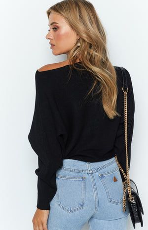 Alyce Off Shoulder Knit Black