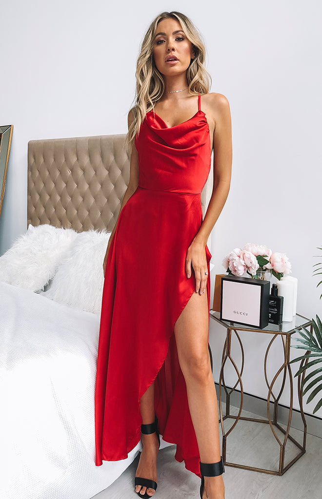 At Twilight Maxi Dress Wine