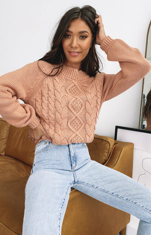 Breaker Knitted Winter Sweater Tan