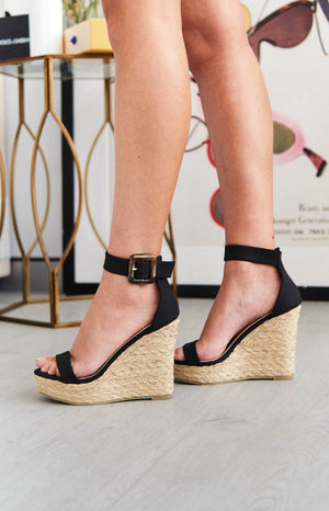 Billini Skiathos Wedge Black Nubuck